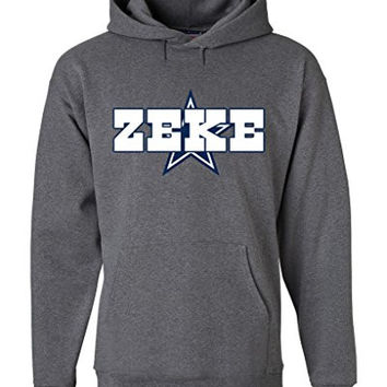 "Ezekiel Elliott Dallas Cowboys ""ZEKE"" Hooded Sweatshirt ADULT 2XL"