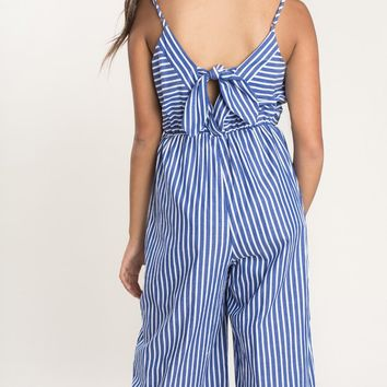 Jamie Blue Stripe Jumpsuit