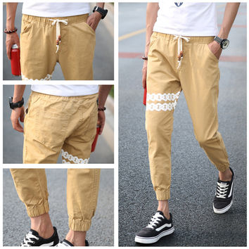 Korean Slim Casual Pants Skinny Pants [6544955075]
