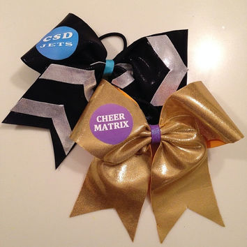 Custom Bubble Gym Name Cheer Bows by MyWildBows on Etsy