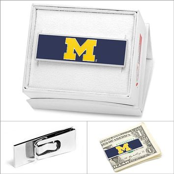 University of Michigan Money Clip in Azure Blue by CufflinksInc