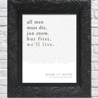 literary art print / book quote // a song of ice and fire: a storm of swords; george r.r. martin