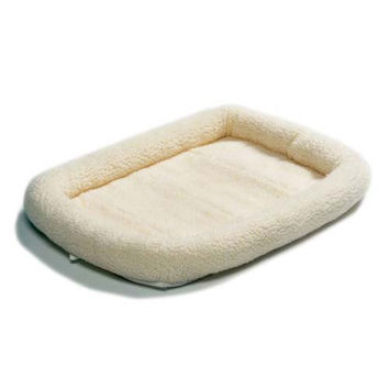 """Midwest Quiet Time Fleece Dog Crate Bed White 36"""" x 23"""""""
