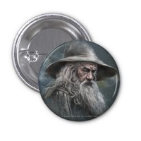 Gandalf Illustration 2 Inch Square Button