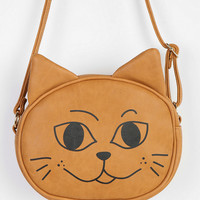 Urban Outfitters - Cooperative Happy/Sad Kitty Crossbody Bag