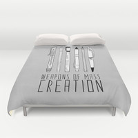 weapons of mass creation Duvet Cover by Bianca Green