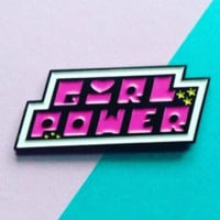 Girl Power -- Enamel Pin
