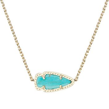 Skylie Gold Pendant Necklace in Turquoise - Kendra Scott Jewelry