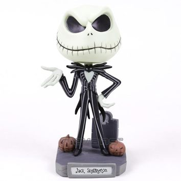 The Nightmare Before Christmas Jack Skellington Bobble Head Doll PVC Action Figure Collectible Model Toy  with Retail Box 16cm
