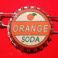Orange Soda Ellie Badge Inspired Bottlecap Pin Disney Pixar Up