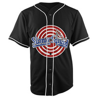 Stoner Squad Black Button Up Baseball Jersey