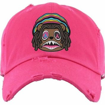 040efae71b9b4e CRAZY RASTA BAWS Hot Pink Dad Hat