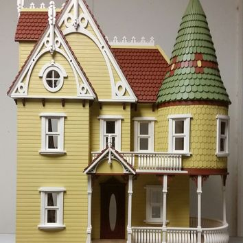 Wooden Dollhouse Kit Mirabella Mansion 1:12 Scale