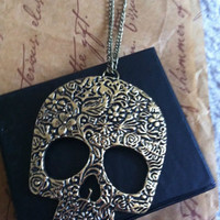 Vintage Inspired Skull Necklace