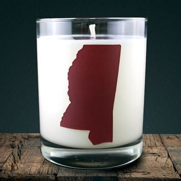 Mississippi | 100% soy wax & essential oil candle | Classic Tumbler | 14oz. | Maroon