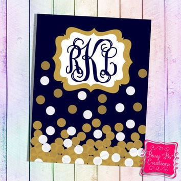 Gold Confetti Binder Cover Printable