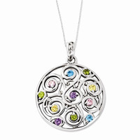 Sterling Silver Kaleidoscope Of Wishes Necklace