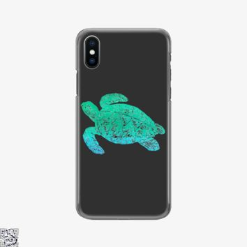 Green Blue Sea Turtle, Sea Turtles Phone Case