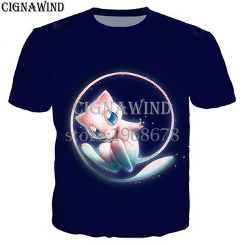 6a8ab498 New arrival cute Mew and Mewtwo t shirt men/women 3D printed t-