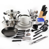 83 Piece Complete Kitchen Pots Pans Tool Gadget Set w Can Opener,Measuring Cups,Tongs