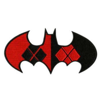 DC Comics Harley Quinn Batman Logo Iron-On Patch