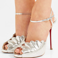 Christian Louboutin - Botticella 120 metallic lizard-effect leather sandals