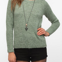 Urban Outfitters - Silence & Noise Fuzzy Zip-Back Sweater