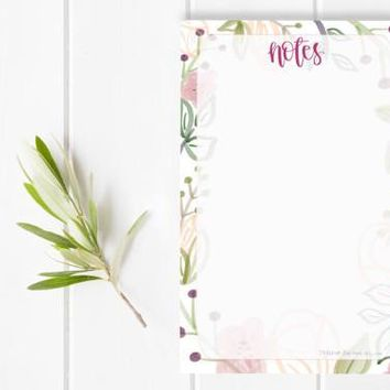 Floral Notes Notepad