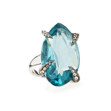 Marquis Fancy-Cut Sky Quartz Ring - Alexis Bittar Fine