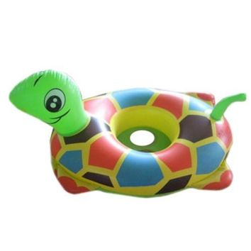 Inflatable Tortoise Water Taxis Swim Ring Toy