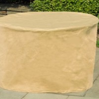 Budge All-Seasons Round Patio Table Cover P5A07SF1, Tan (72 Diameter x 28 Drop)