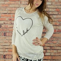 Heart Dolman Sleeve Tunic