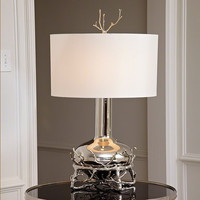 Global Views Fat Nickel Twig Table Lamp - Global Views 9-92090