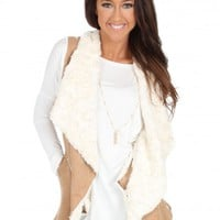In A Daydream Vest in Tan | Monday Dress Boutique