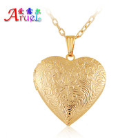 gorjuss floating charm locket necklace 18k gold fashion lover Romantic heart photo childs friendship pendant necklaces for women