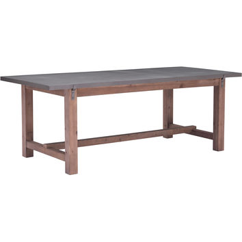 Greenpoint Dining Table, Gray & Distressed Fir