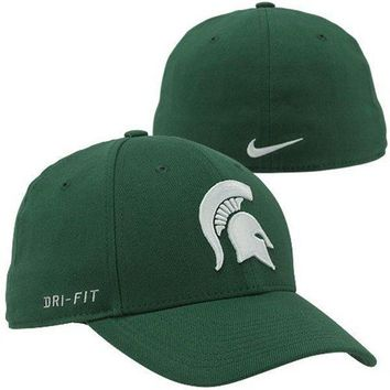 Nike Michigan State Spartans Dri-FIT Swoosh Flex Hat - Green