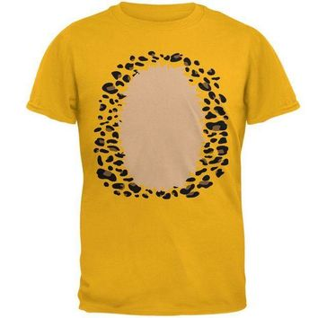 CREYCY8 Halloween Leopard Costume Mens T Shirt