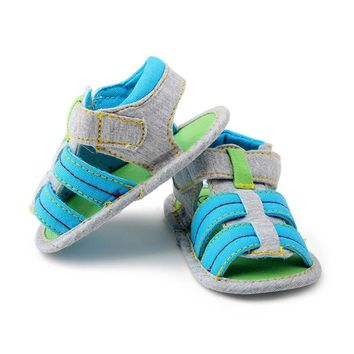 Baby Boys Soft Sole Crib Sandals