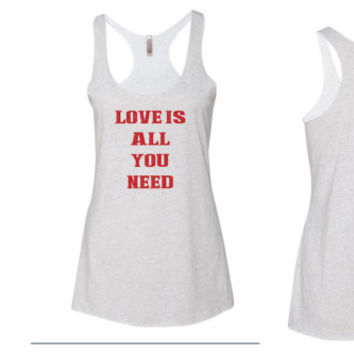 Love is all you need tank top // Love Tank Top // Diamond Ring Tank Top // Wedding Tank Top // I love my Husband tank top
