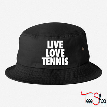 Live Love Tennis bucket hat