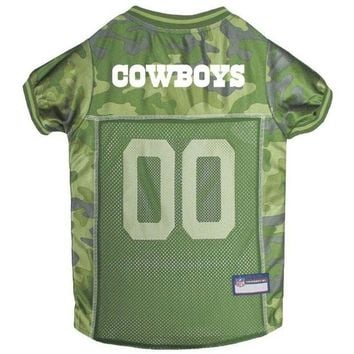 DCCKT9W Dallas Cowboys Pet Camo Jersey