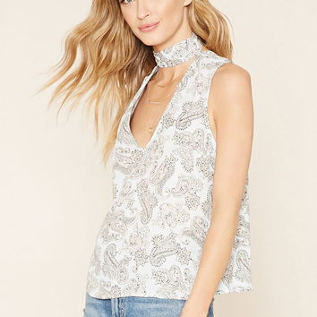 Contemporary Paisley Floral Top