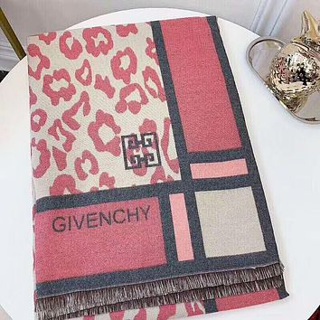 Givenchy New fashion letter print pattern warm tassel scarf women
