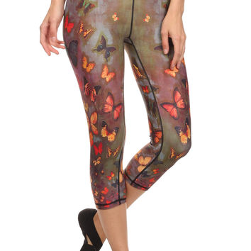 Fall Butterflies Dream Capris