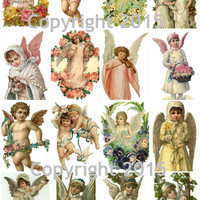 Angel Images  Collage Sheet for Decoupage, Altered Art, Scrapbooking