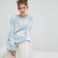E.L.K Relaxed Jumper In Fluffy Cloud Knit at asos.com