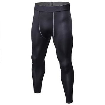 Winter Style Velet Lining Compression Running Tights For Men Basketball Leggings Jogging Clothes Male Sportswear Solid Color
