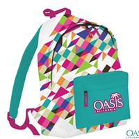 Multi-colored diamond patterned bag -
