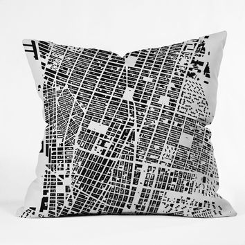 CityFabric Inc NYC White Throw Pillow